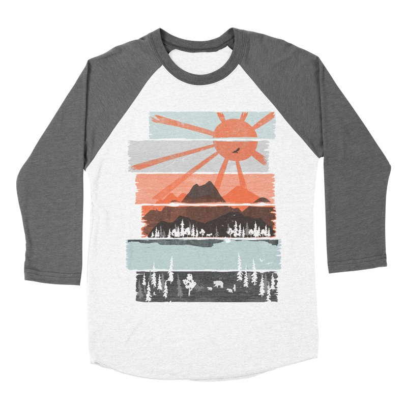 Morning by Bear River... Men's Baseball Triblend T-Shirt by NDTank's Artist Shop
