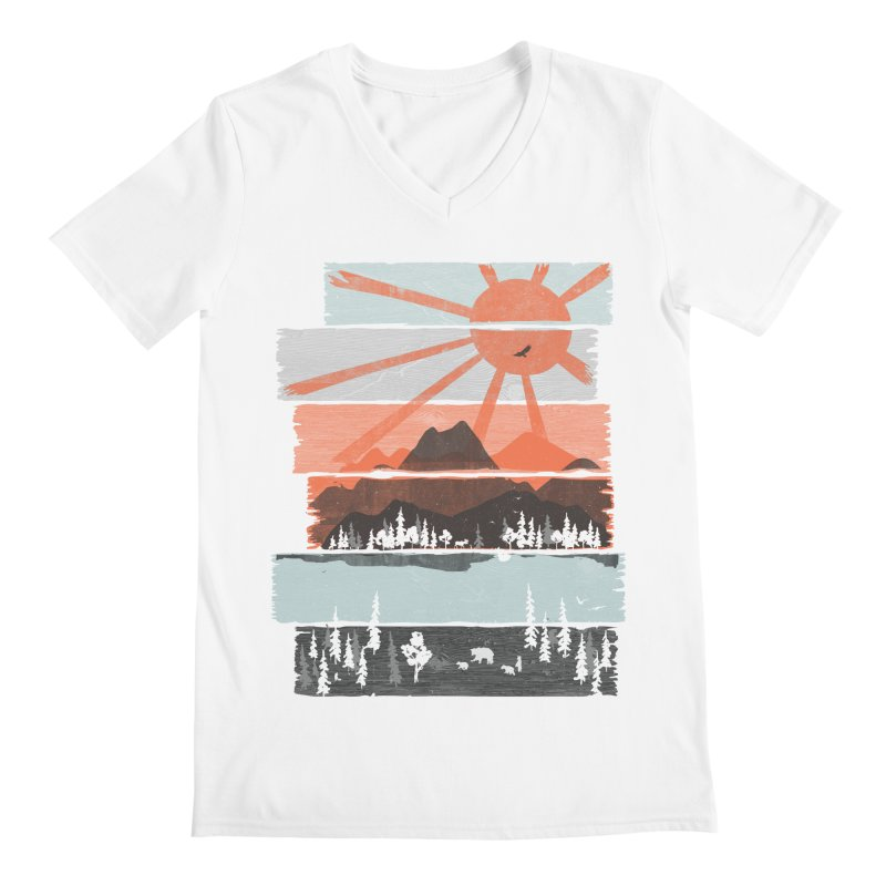 Morning by Bear River... Men's V-Neck by NDTank's Artist Shop
