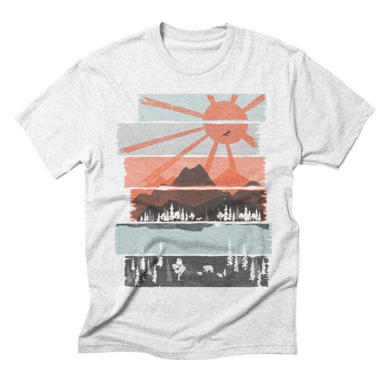 Morning by Bear River... Men's Triblend T-shirt by NDTank's Artist Shop