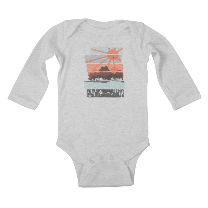 Morning by Bear River... Kids Baby Longsleeve Bodysuit by NDTank's Artist Shop
