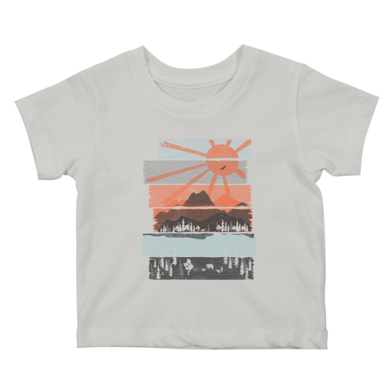 Morning by Bear River... Kids Baby T-Shirt by NDTank's Artist Shop