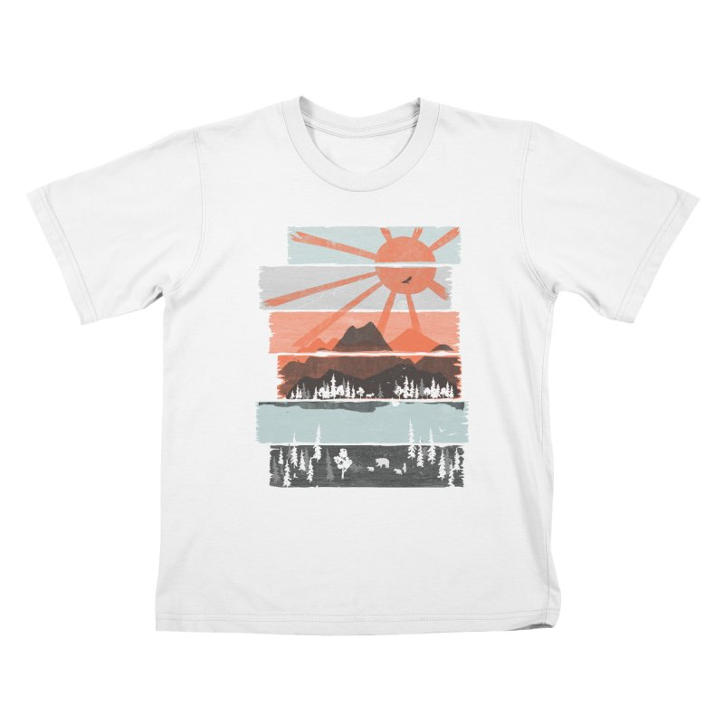 Morning by Bear River... Kids T-Shirt by NDTank's Artist Shop