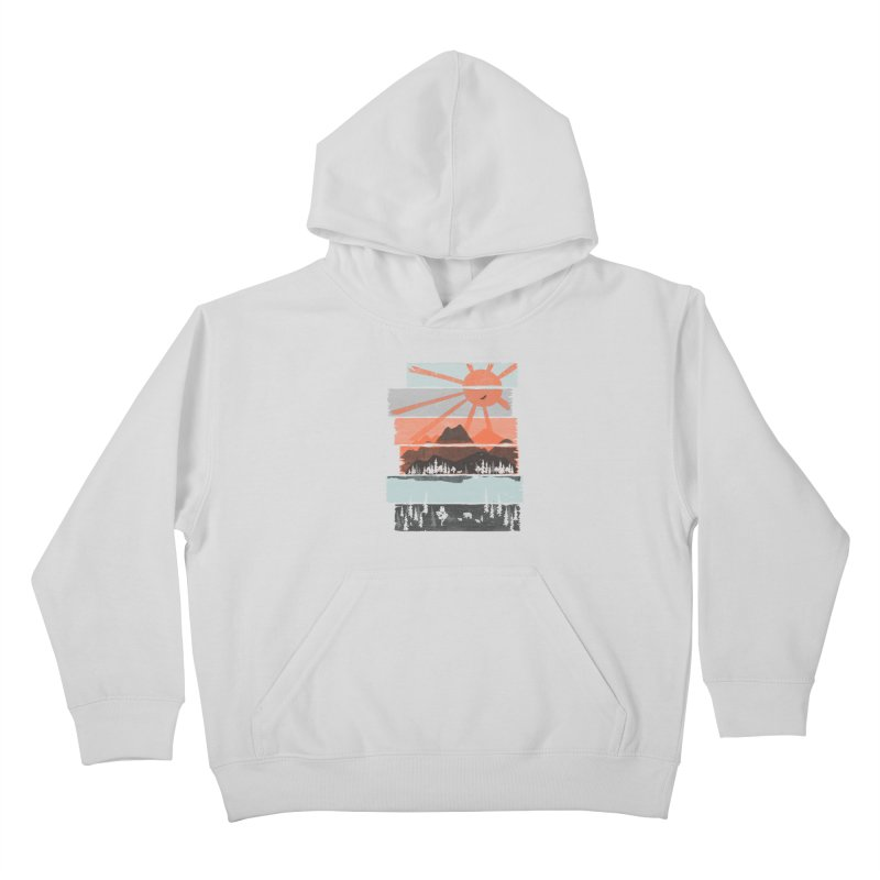 Morning by Bear River... Kids Pullover Hoody by NDTank's Artist Shop