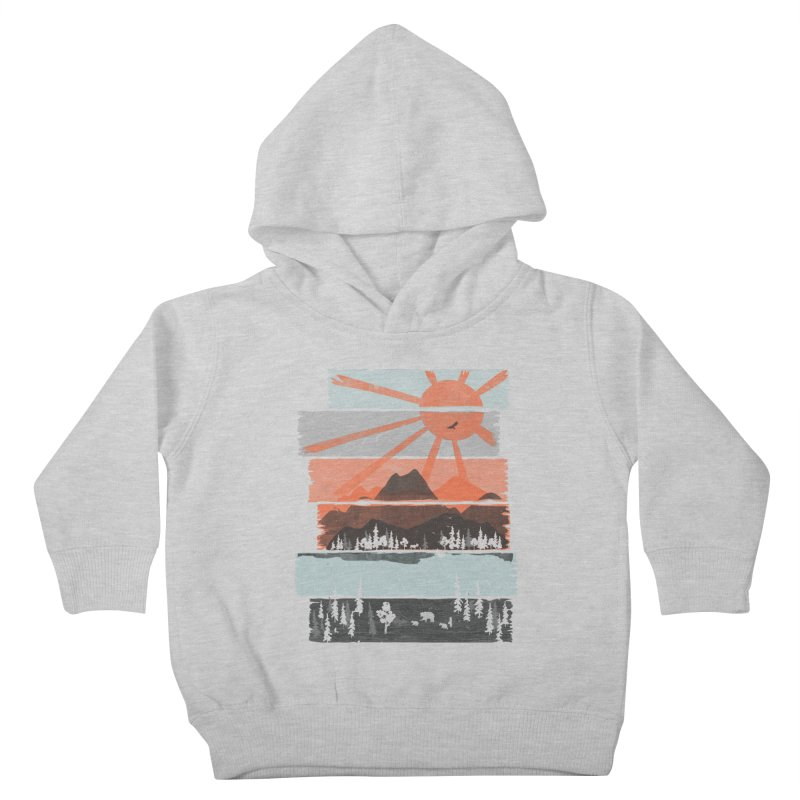 Morning by Bear River... Kids Toddler Pullover Hoody by NDTank's Artist Shop