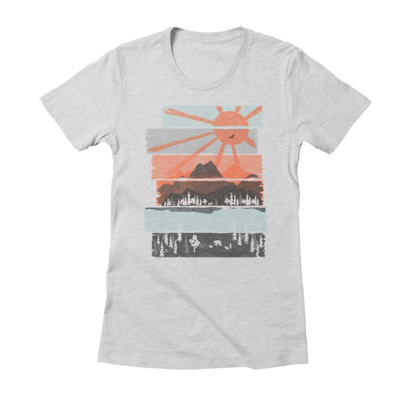 Morning by Bear River... Women's Fitted T-Shirt by NDTank's Artist Shop