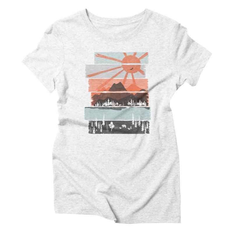 Morning by Bear River... Women's Triblend T-shirt by NDTank's Artist Shop