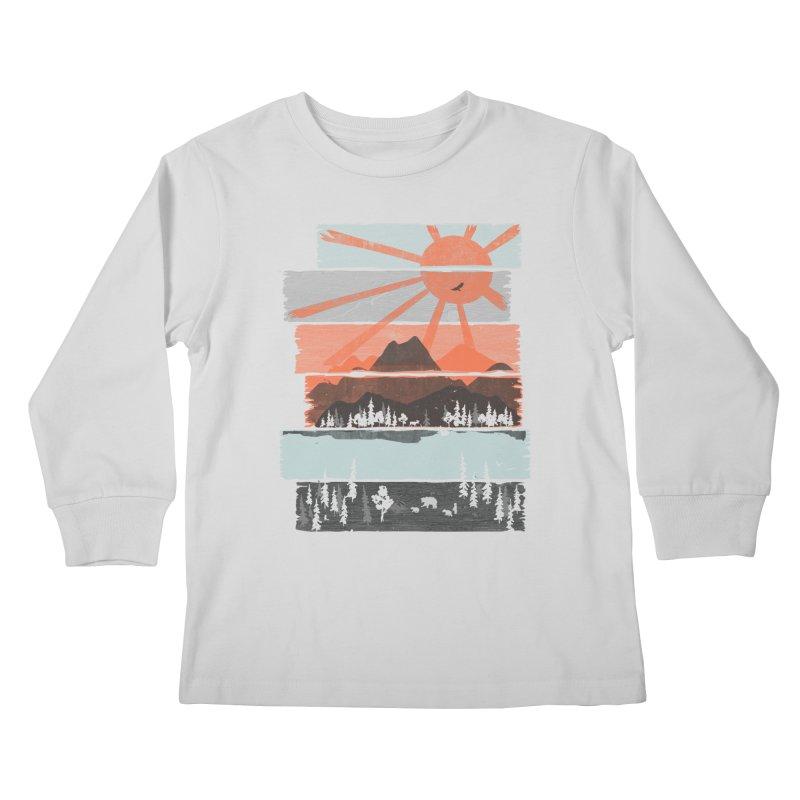 Morning by Bear River... Kids Longsleeve T-Shirt by NDTank's Artist Shop