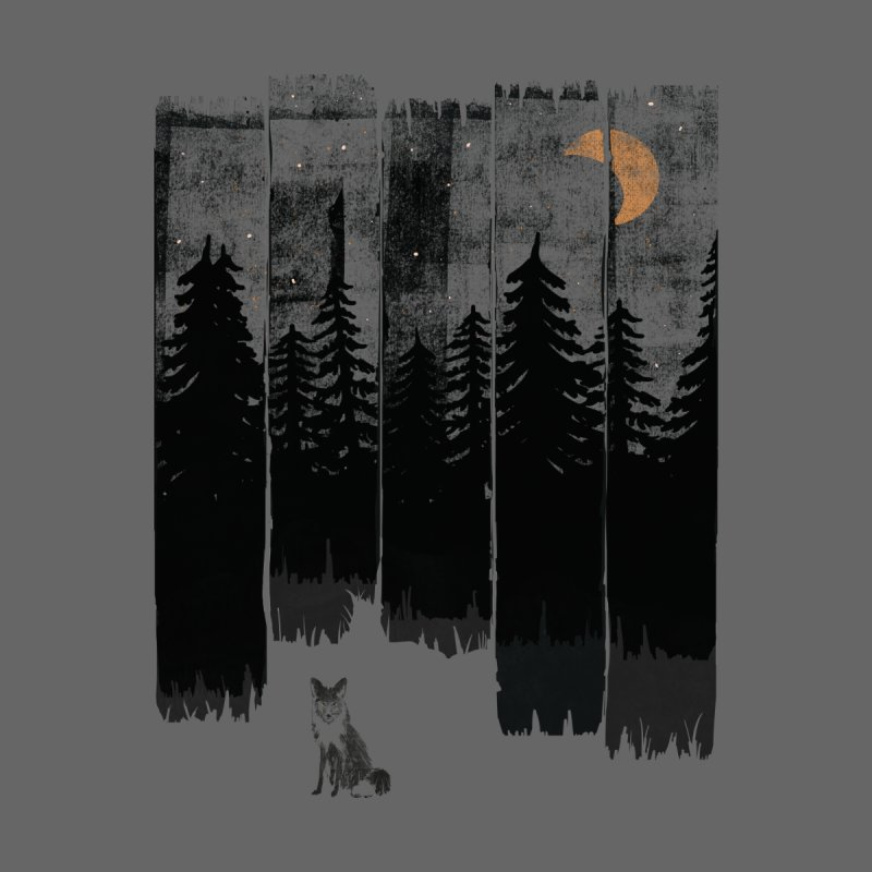 Fox in the Wild Night... Men's T-Shirt by NDTank's Artist Shop