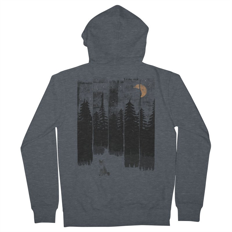 Fox in the Wild Night... Men's Zip-Up Hoody by NDTank's Artist Shop