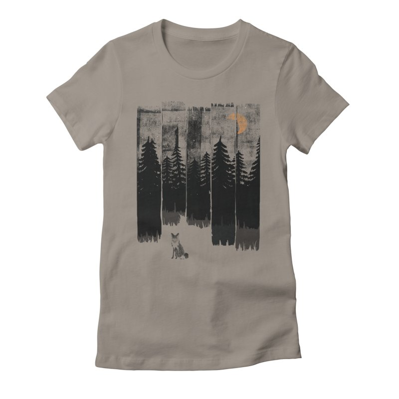 Fox in the Wild Night... Women's T-Shirt by NDTank's Artist Shop