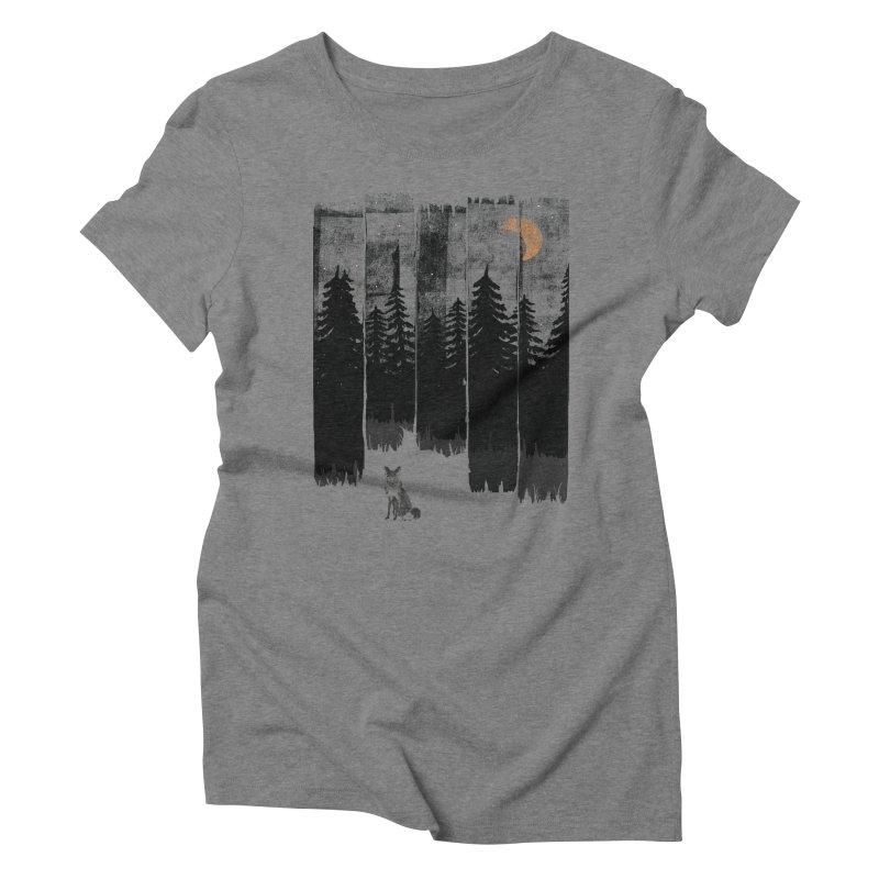 Fox in the Wild Night... Women's T-Shirt by NDTank's Artist Shop