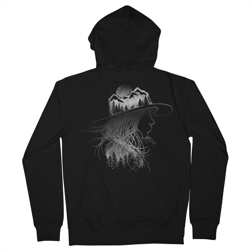Aurora... (Black & White) Women's Zip-Up Hoody by NDTank's Artist Shop