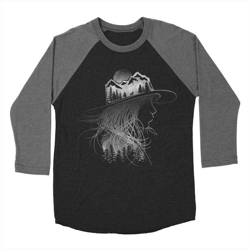 Aurora... (Black & White) Men's Baseball Triblend T-Shirt by NDTank's Artist Shop