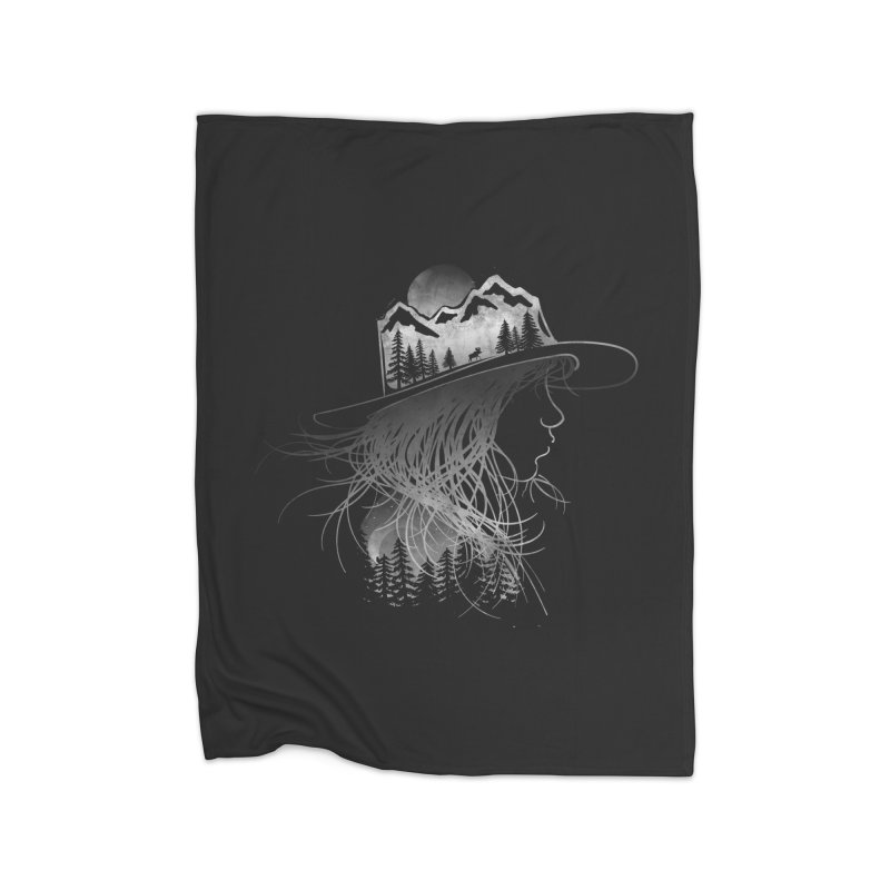 Aurora... (Black & White) Home Blanket by NDTank's Artist Shop