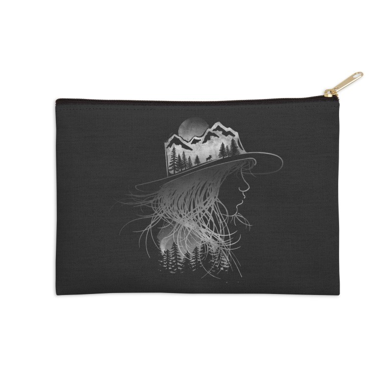 Aurora... (Black & White) Accessories Zip Pouch by NDTank's Artist Shop