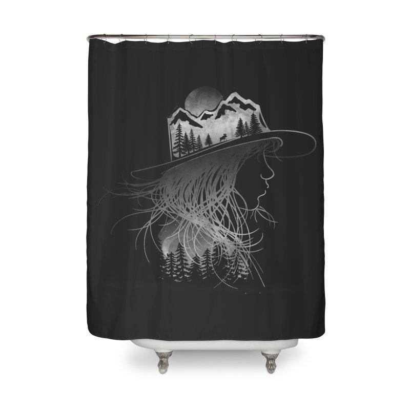 Aurora... (Black & White) Home Shower Curtain by NDTank's Artist Shop
