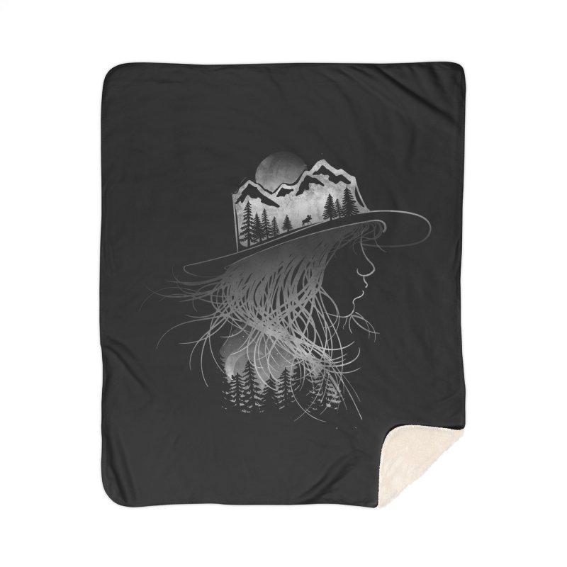 Aurora... (Black & White) Home Blanket by NDTank's Artist Shop