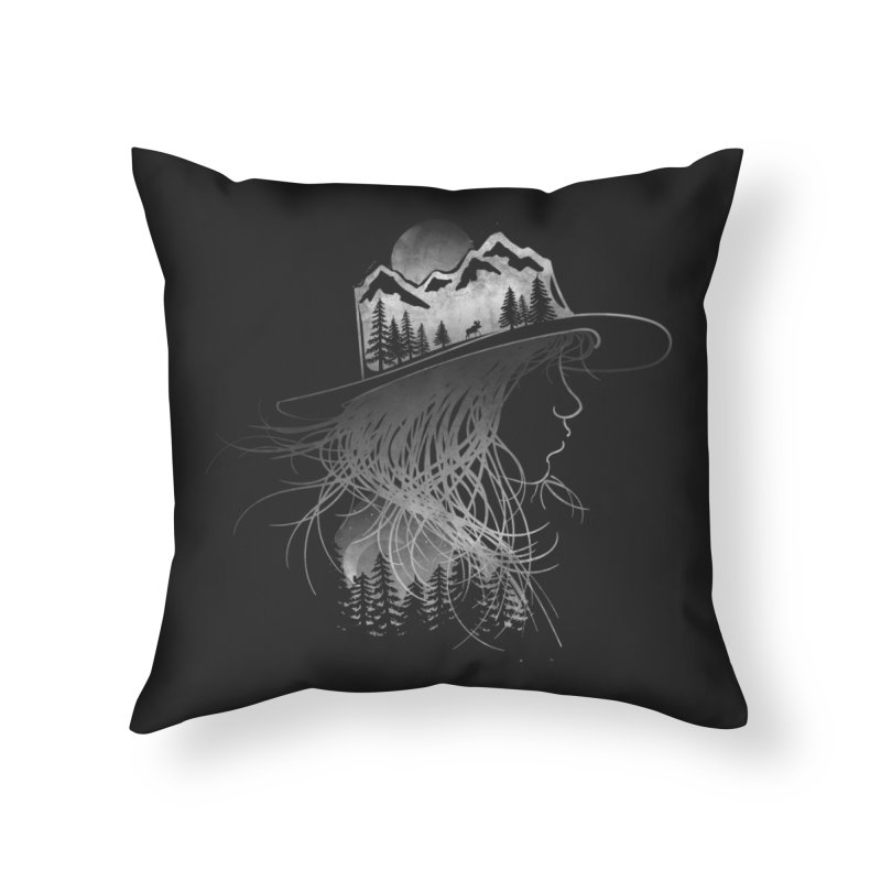 Aurora... (Black & White) Home Throw Pillow by NDTank's Artist Shop