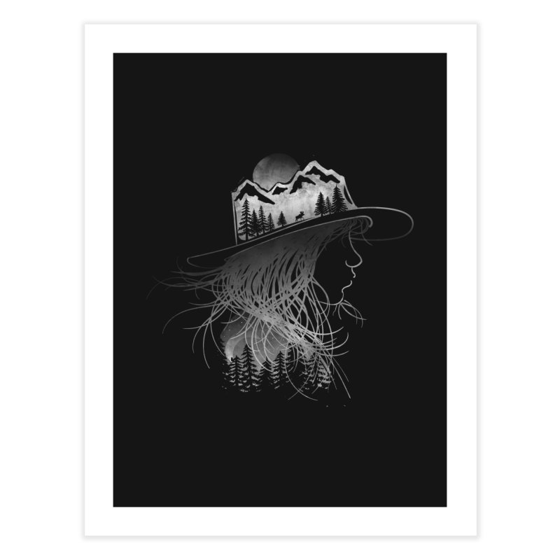 Aurora... (Black & White) Home Fine Art Print by NDTank's Artist Shop