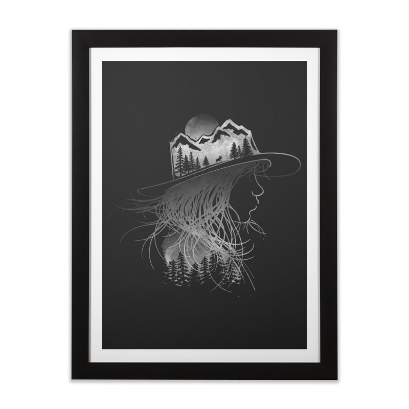 Aurora... (Black & White) Home Framed Fine Art Print by NDTank's Artist Shop