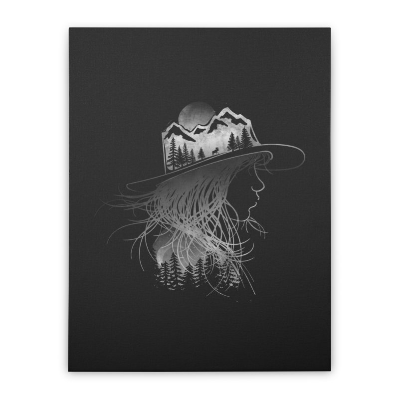 Aurora... (Black & White) Home Stretched Canvas by NDTank's Artist Shop