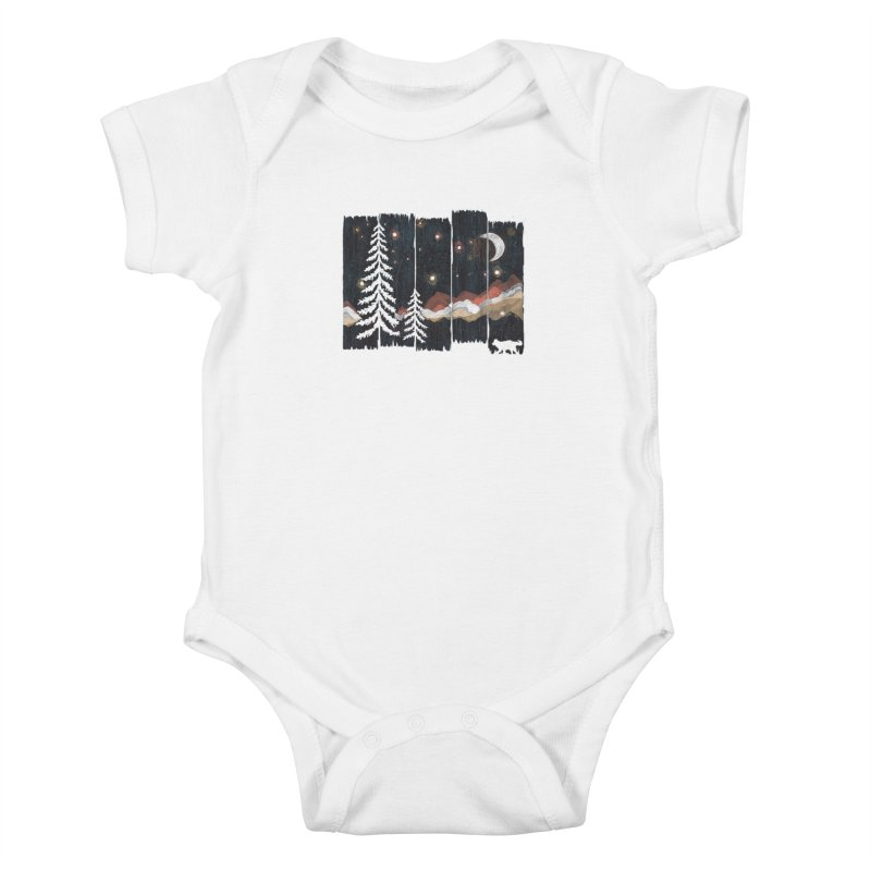 Starry Night in The Mountains... Kids Baby Bodysuit by NDTank's Artist Shop