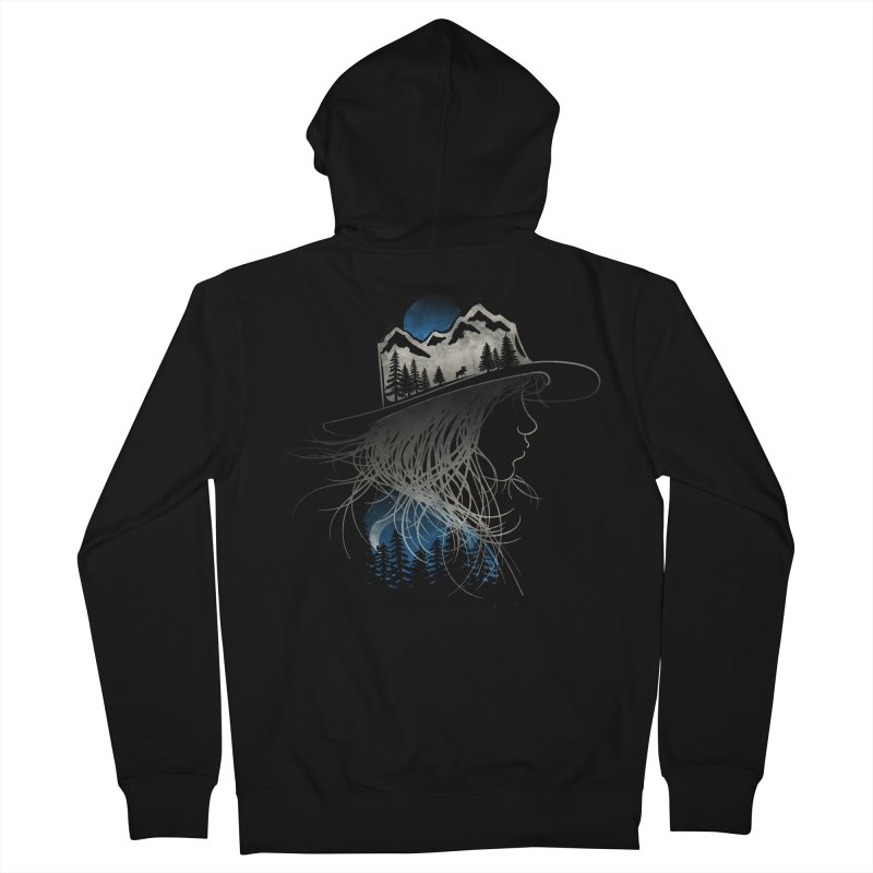 Aurora... (Blue Variant) Men's Zip-Up Hoody by NDTank's Artist Shop