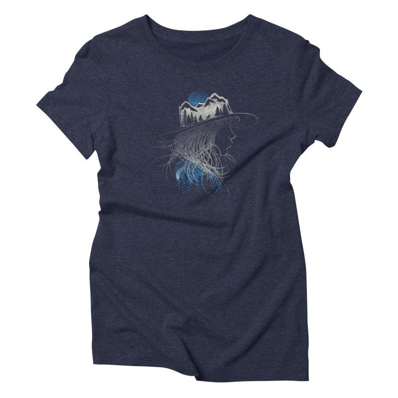 Aurora... (Blue Variant) Women's T-Shirt by NDTank's Artist Shop