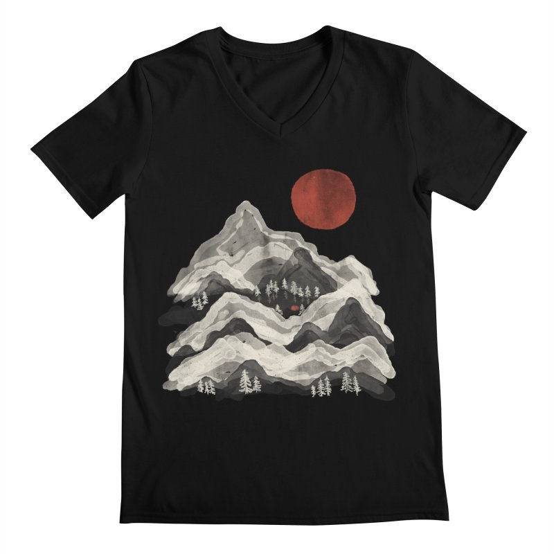Moon Lake... Men's V-Neck by NDTank's Artist Shop