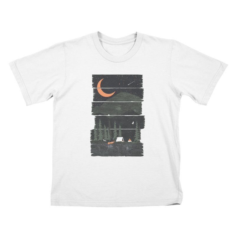 Wish I Was Camping... Kids T-Shirt by NDTank's Artist Shop
