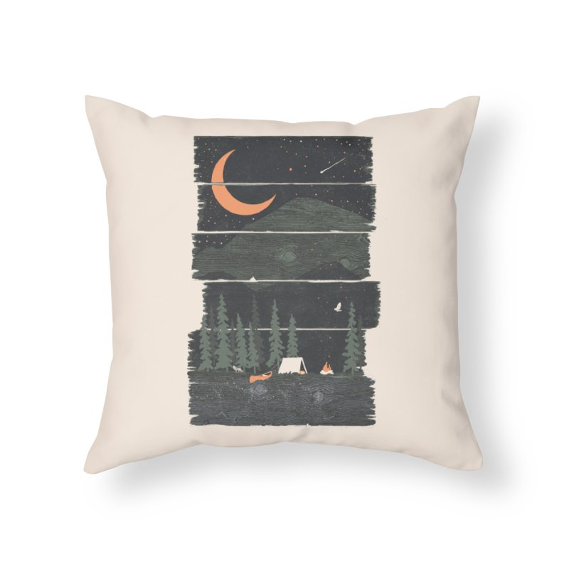Wish I Was Camping... Home Throw Pillow by NDTank's Artist Shop