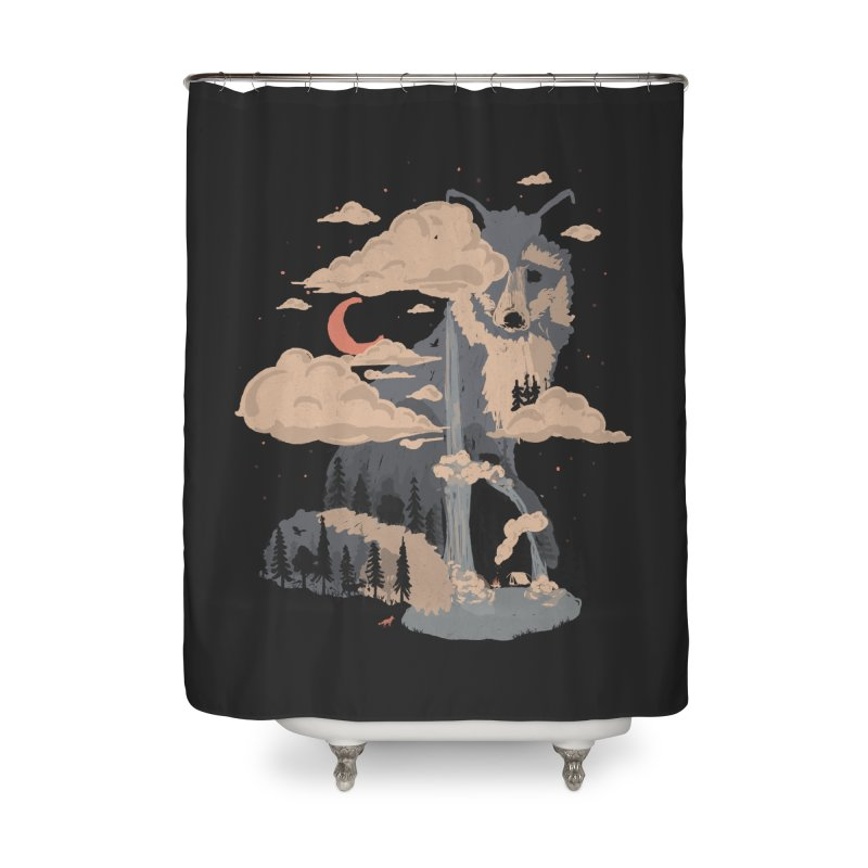 At the Foot of Fox Mountain... Home Shower Curtain by NDTank's Artist Shop