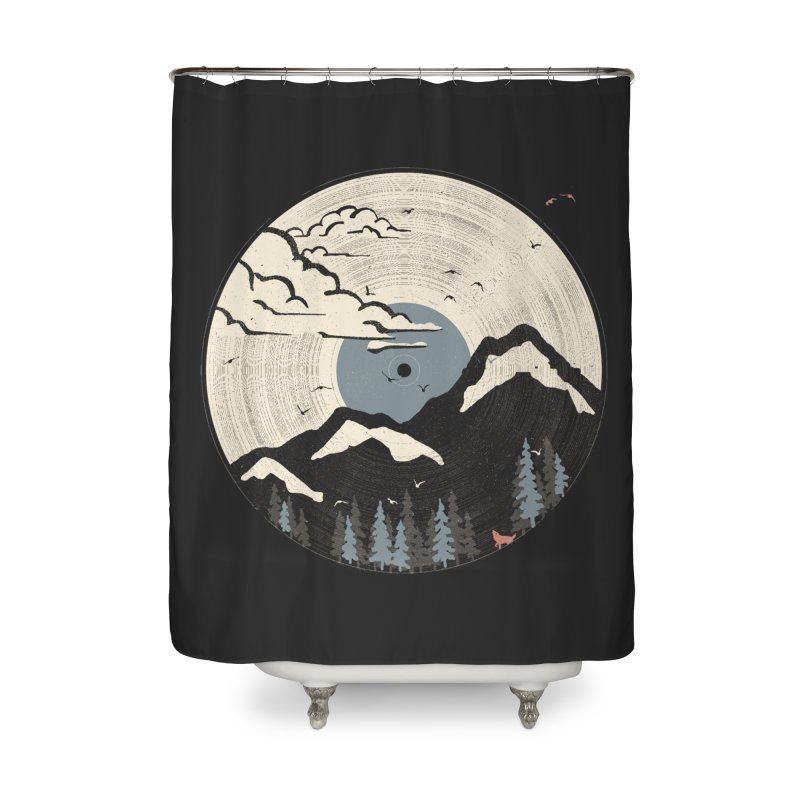 MTN LP... (Blue Variant) Home Shower Curtain by NDTank's Artist Shop