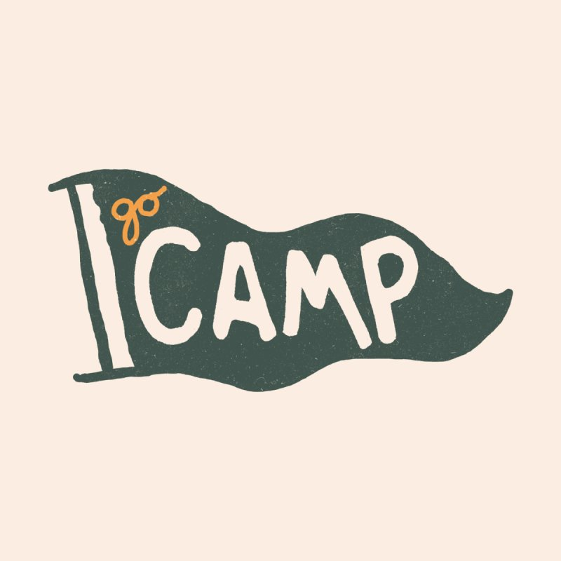 Go Camp... (Green Pennant) Men's T-Shirt by NDTank's Artist Shop