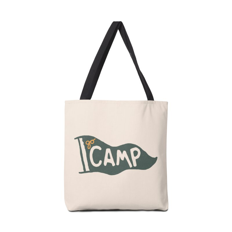 Go Camp... (Green Pennant) Accessories Bag by NDTank's Artist Shop
