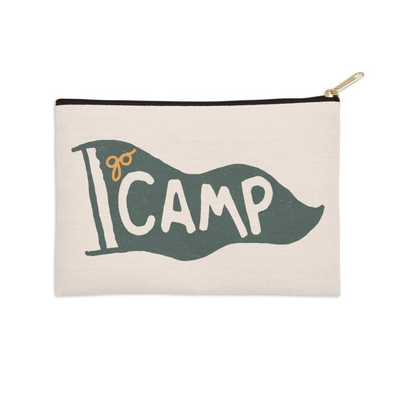 Go Camp... (Green Pennant) Accessories Zip Pouch by NDTank's Artist Shop