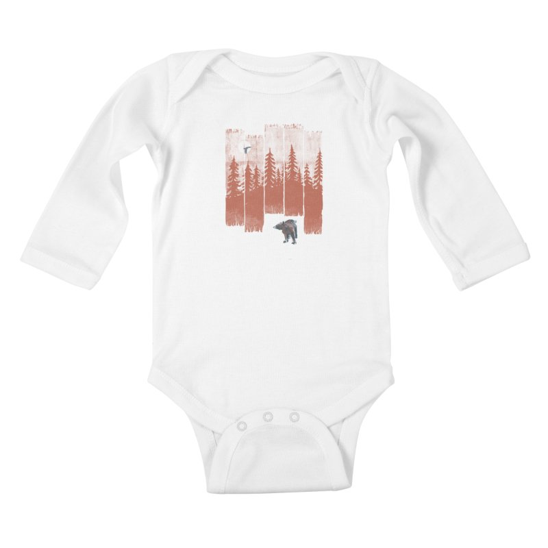 A Bear in the Wild... Kids Baby Longsleeve Bodysuit by NDTank's Artist Shop