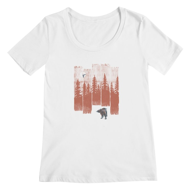 A Bear in the Wild... Women's Scoopneck by NDTank's Artist Shop