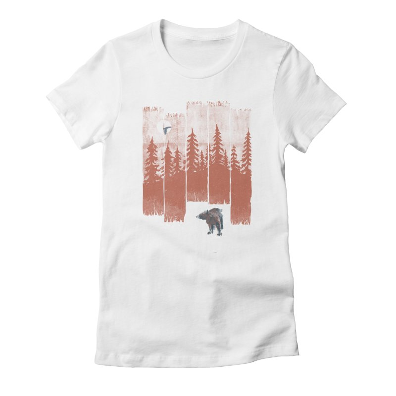 A Bear in the Wild... Women's Fitted T-Shirt by NDTank's Artist Shop