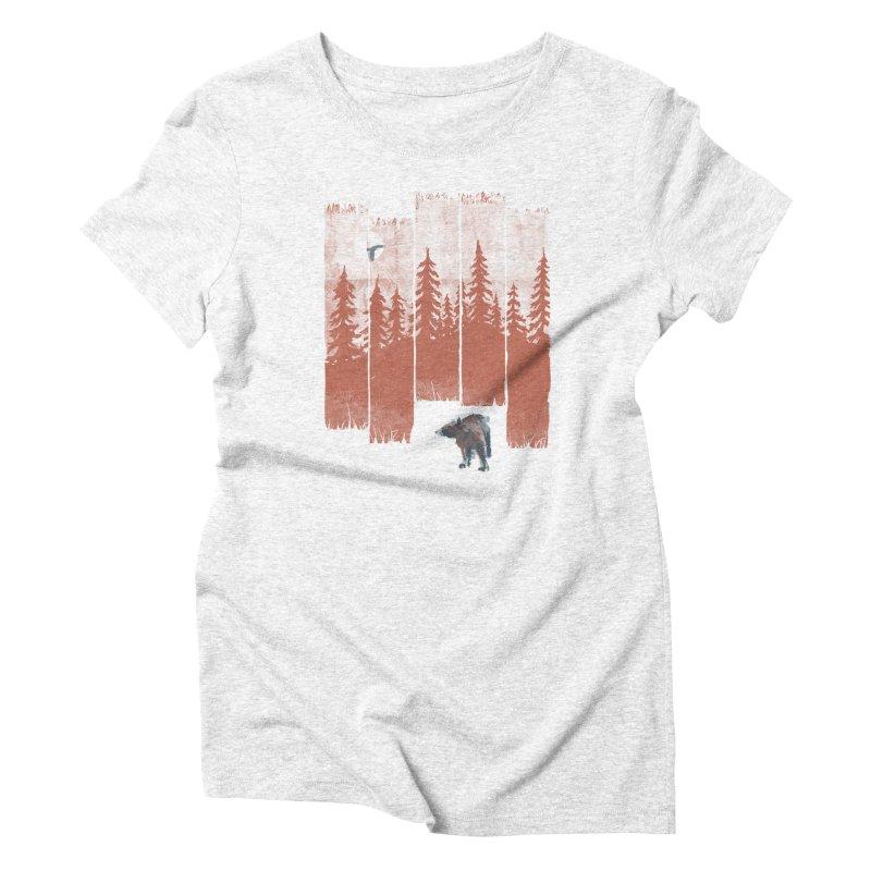 A Bear in the Wild... Women's Triblend T-shirt by NDTank's Artist Shop