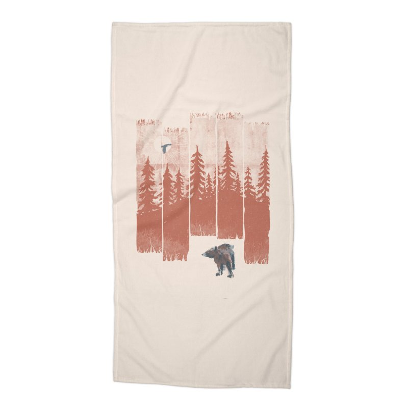 A Bear in the Wild... Accessories Beach Towel by NDTank's Artist Shop