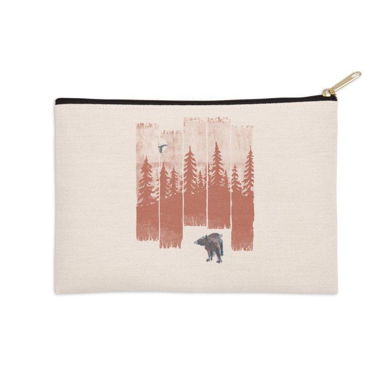 A Bear in the Wild... Accessories Zip Pouch by NDTank's Artist Shop