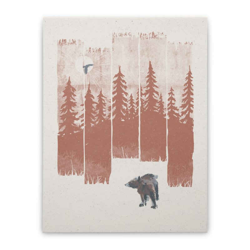A Bear in the Wild... Home Stretched Canvas by NDTank's Artist Shop