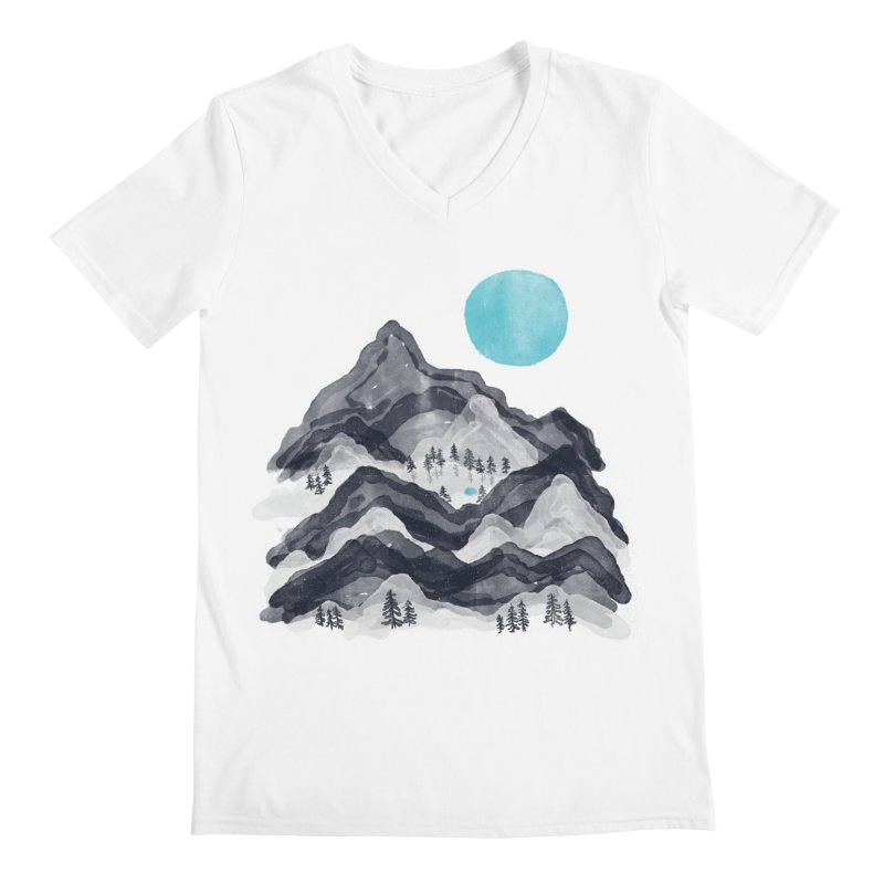 Sun in Moon Lake... Men's V-Neck by NDTank's Artist Shop
