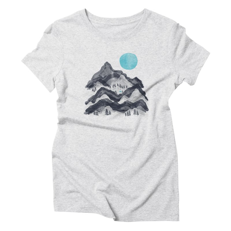 Sun in Moon Lake... Women's T-Shirt by NDTank's Artist Shop