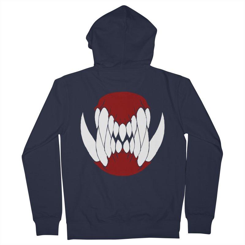Ball Of Teeth Men's Zip-Up Hoody by Necrotic Pixie's Artist Shop