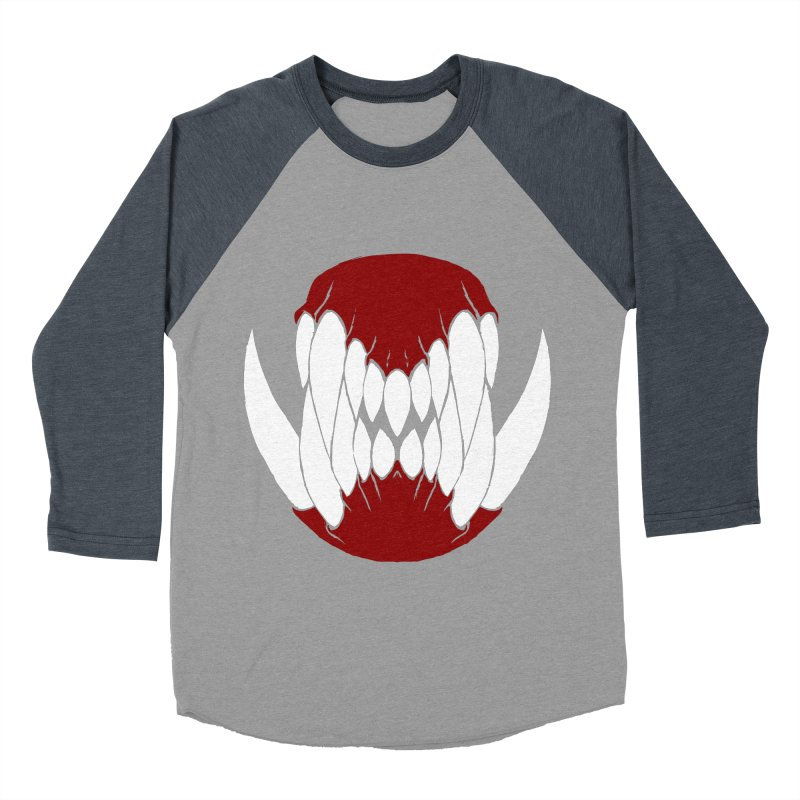 Ball Of Teeth Men's Baseball Triblend T-Shirt by Necrotic Pixie's Artist Shop