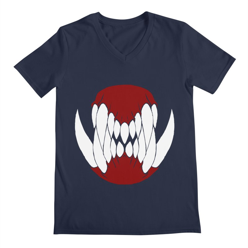 Ball Of Teeth Men's V-Neck by Necrotic Pixie's Artist Shop