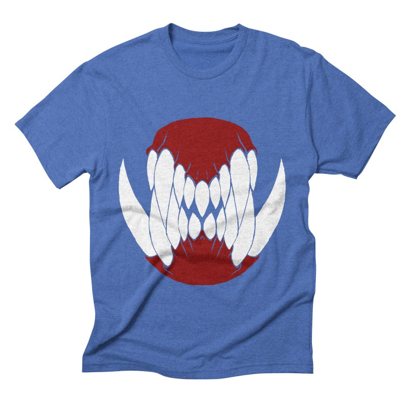 Ball Of Teeth Men's Triblend T-shirt by Necrotic Pixie's Artist Shop