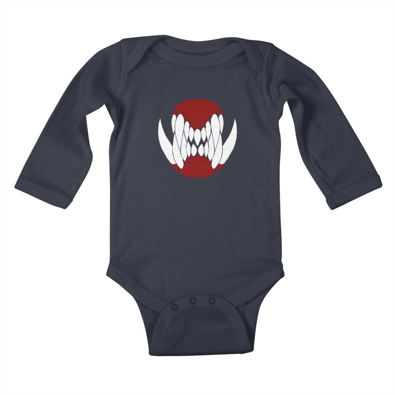 Ball Of Teeth Kids Baby Longsleeve Bodysuit by Necrotic Pixie's Artist Shop